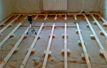установка лаг по построителю плоскостей